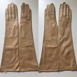 Long Vintage Beige Lord and Taylor Gloves